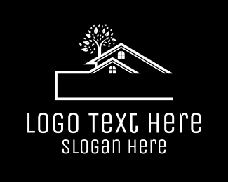 Roof - Blue Townhouse logo design