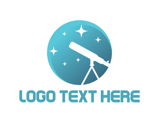 Asteroid - White Telescope logo design