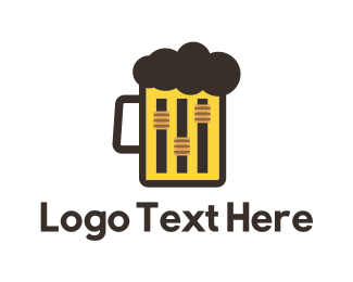 Bar - Beer & Music logo design