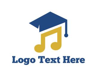 Musical Note - Music Graduation logo design