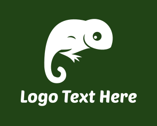 Iguana - White Lizard logo design