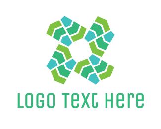 Fan - Abstract Wind Mill logo design