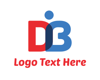 Author - D & B Book logo design