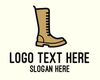 Footwear - Brown Boot logo design