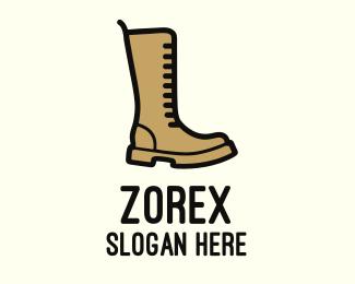 Fashion - Brown Boot logo design