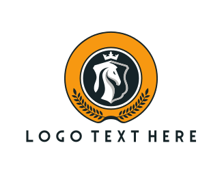 Unicorn - Horse King logo design
