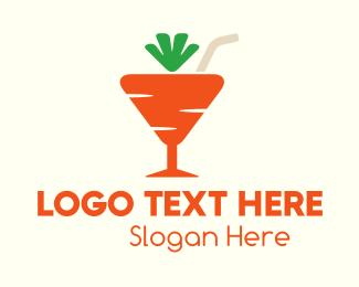 Vegetable - Carrot Cocktail  logo design