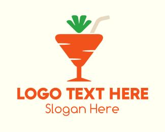 Shake - Carrot Cocktail  logo design