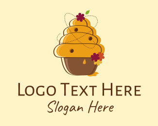Honey - Honeycomb & Flowers logo design