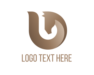 Brown Abstract Horse Logo