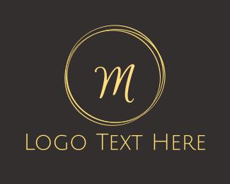 Cursive - Cursive M Circle logo design