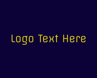 Type - Neon Yellow Text logo design