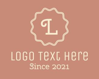 Children - White Cursive Letter R logo design