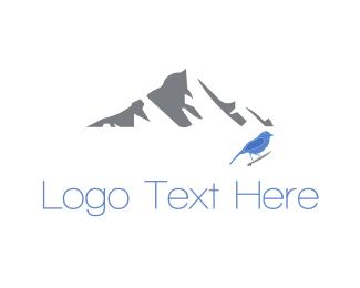 Cold - Mountain Bird logo design