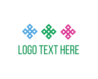Four Leaf Clover - Three Flowers logo design