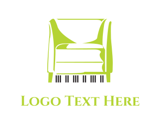 Chair - Piano Couch  logo design