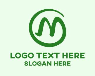 Stroke - Round Stroke M logo design