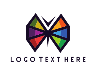 Bug - Geometric Butterfly logo design