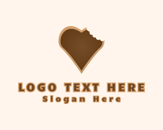 Chocolate - Heart Cookie logo design