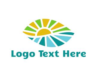Shine - Leaf Landscape logo design