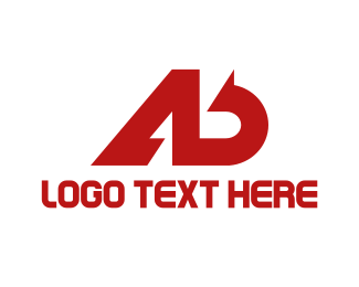 Management Consulting - Red A & B logo design