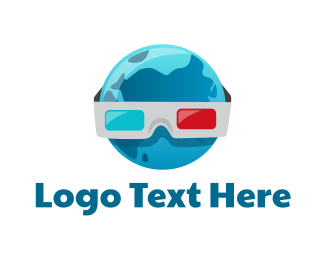 World - 3D World logo design