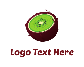 Coconut - Green Kiwi logo design