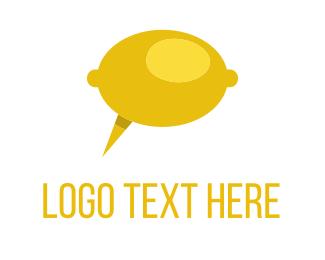 Talk Bubble - Lemon Talk logo design