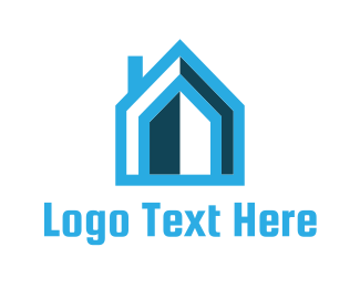 Door - Blue House logo design