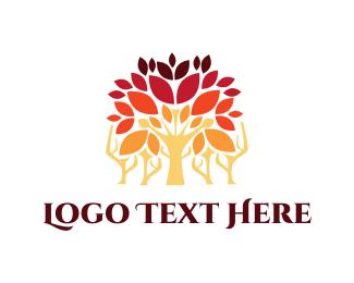 Forest - Autumn Forest logo design