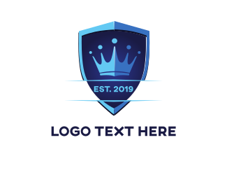 Prince - Blue Crown Team logo design