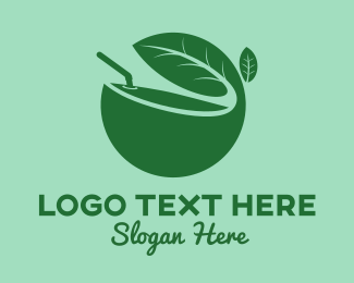 Coconut - Herb Juice logo design