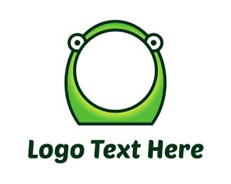 Gecko - Frog Face Cartoon logo design
