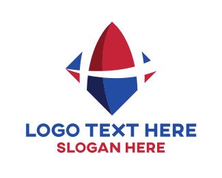 Puzzle - Tech Diamond Letter A logo design