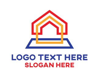 Land - Rainbow Box House logo design
