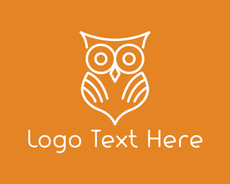 Wise - White Owl logo design