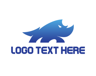 """Wild Blue Rhino"" by eightyLOGOS"