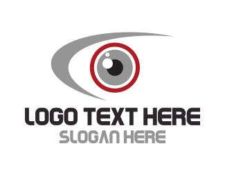 See - Red Eye logo design