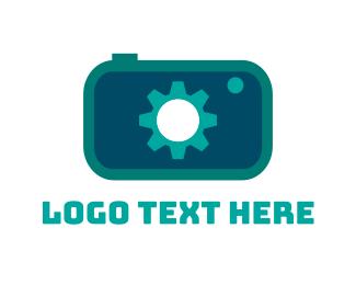 Picture - Blue Camera Gear logo design