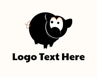 Farm - Ninja Pig logo design