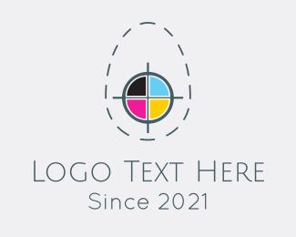 Colorful - Egg Print Colors logo design