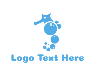Bubble Seahorse Logo