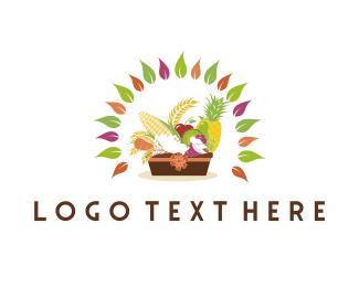 Wheat - Fruit & Vegetable Basket logo design