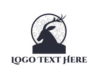 Deer - Deer Silhouette logo design