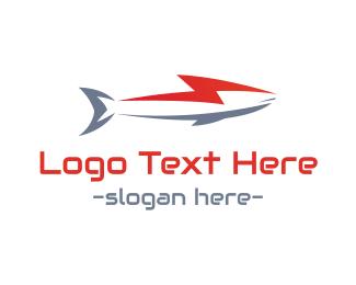 Lightning - Lightning Shark logo design