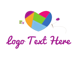 Baby - Heart Sewing logo design