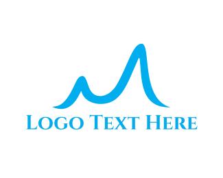 Glacier - Blue Letter M logo design
