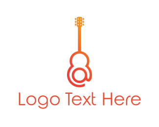 Mariachi - At & Guitar logo design