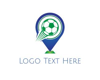 Football - Soccer Ball Pin logo design