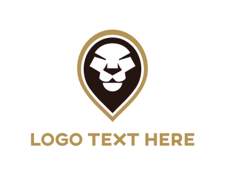 Location - Black Lion logo design
